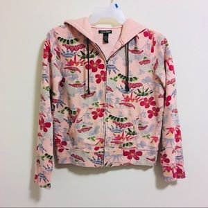 Lucky Brand Floral Hoodie Large